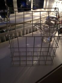Large white metal letter box cage/letter catcher
