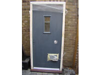 Large Double Glazed Composite Front Door With Timber Frame 'NEW'