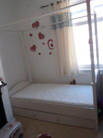 Single girls bed frame