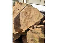 1 ton bag full of rockery stones all sizes