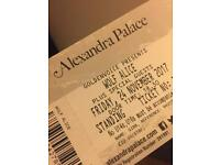 Wolf Alice Alexandra Palace Tickets x2