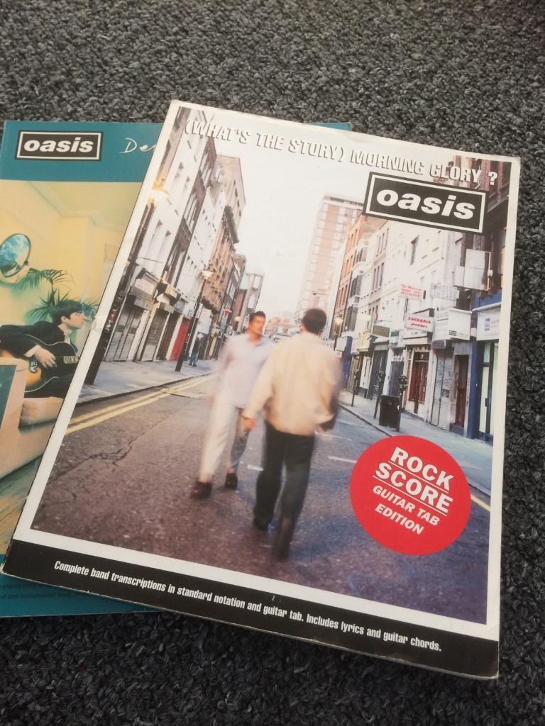 Oasis Rock Score Guitar Bass Tab Books X2 Definitely Maybe Whats