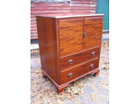 vintage tallboy sideboard wooden chest of drawers TV cupboard media cabinet wardrobe retro home