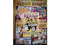 Five Beano comics from 2020 and 2021