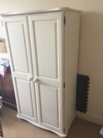 Solid painted wood wardrobe for sale