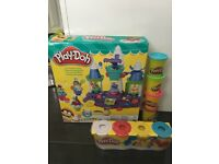 Play doh ice cream castle play set and lots of play doh tubs