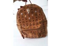 MCM Medium Stark Backpack (TORN STRAP)
