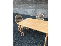 Farmhouse Style Table and 2 Chairs