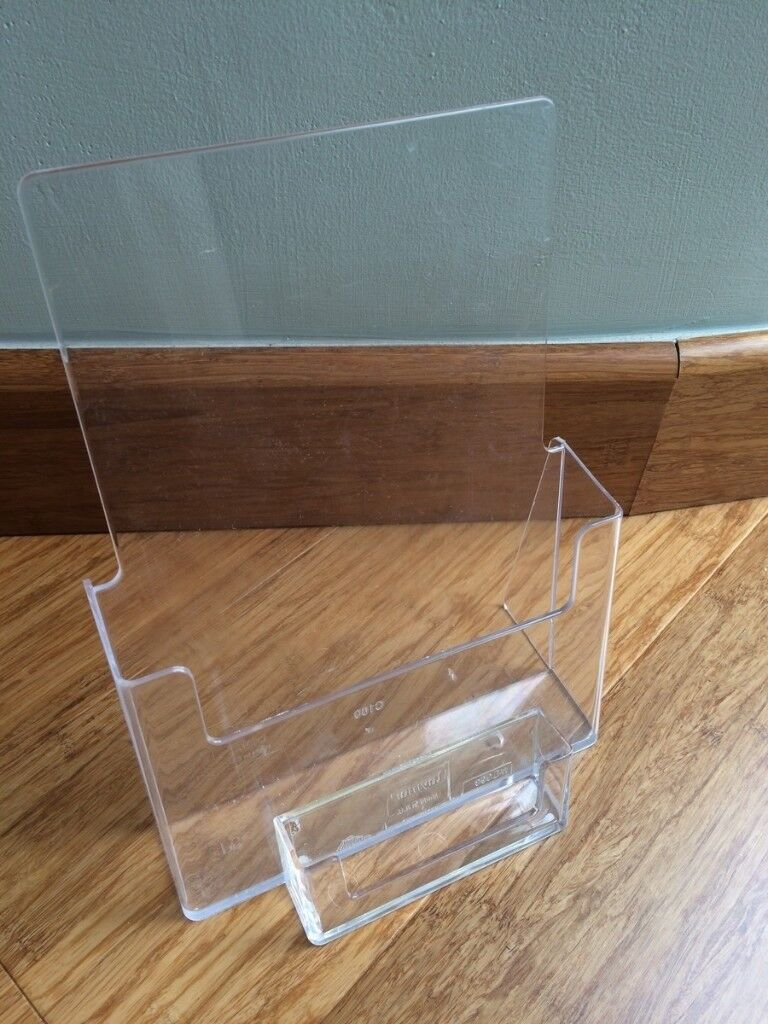 Clear plastic A5 Leaflets and business cards holder | in Bournemouth ...