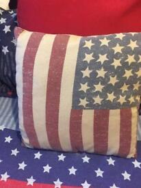 Stars and strips cushions x2
