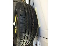 Brand new Bridgestone 195/55 R15 85H mounted on space saver wheel fits Skoda Fabia £60
