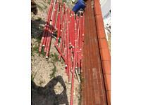 Job lot of scaffolding Aluminium 380+ clamps