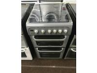 Silver hotpoint 50cm gas cooker grill & oven good condition with guarantee