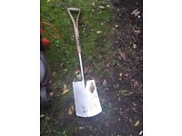 Set of Garden tools - Shovel, pitch fork, broom, rake - Good quality