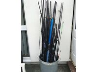 Job lot of diffrent peices of fishing rods