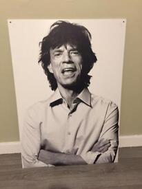 Mick Jagger wall art good quality print on 5 mm foamex board