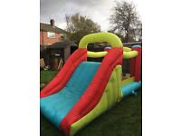 Bouncy castle with slide and generator