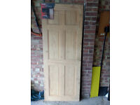 Solid pine 6 panel colonial door size 1.981x762x35mm, brand new still in wrapping