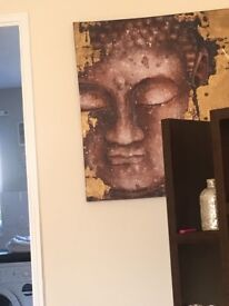 Large gold and bronze canvas