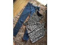 Size 8 clothing bundle next jeans
