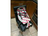 Baby cushioned seat for dining room chair