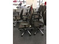 5 - ORANGE BOX X10 - CHAIRS - IN BROWN / ADJ ARMS , EXCELLENT COND - HI QUALTY