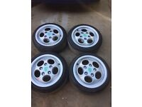 "Porsche 944 Turbo Teledial Alloy wheels 15"" with spacers VW POLO GOLF"