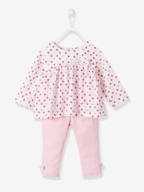 Baby Girls Printed Blouse & Trousers Outfit Set - Verbaudet (12 months)