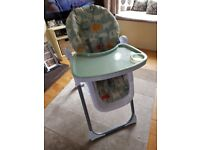 Mamas & Papas high chair for sale - only 7 months old and in very good condition
