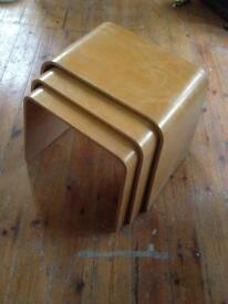 Nested plywood stools