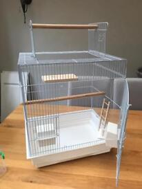 Like new white top opening budgie cage
