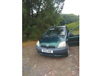 Toyota Yaris. Green. Working Condition.