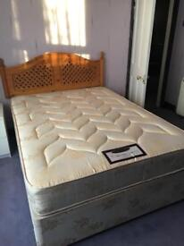 4'6 double bed & mattress by Premier Beds 'cambridge'