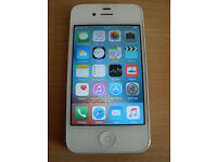 Apple iphone 4s 16GB in White Unlocked