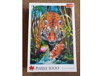 Brand New - still sealed - 1,000 piece jigsaw of a grass Tiger