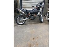 Ktm 530 exc-r supermoto but have enduro wheels