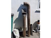 Stainless Steel 6 inch Chimney Flue total length 8 ft plus bend and cowl
