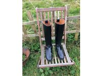 Regent ladies leather riding boots, size 6, worn twice so great condition