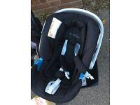Cybex Aton car seat & base mamas and papas