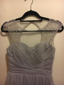 Gray formal dress. Size 12.