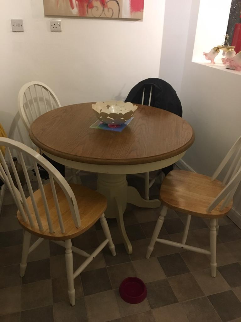 Kitchen Dining Farmhouse Table And 4 Chairs In Birtley County Durham Gu
