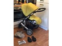 Mamas & Papas Zoom Pushchair, car seat and accessories