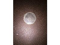 Peter rabbit 50p coin