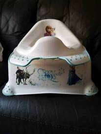Frozen Toilet Training Seat and step stool