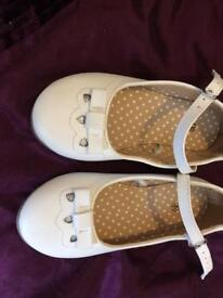 Mothercare white shoes brand new