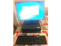 """Lenovo ThinkCentre A70, 19"""" Dell Widescreen, Keyboard, Mouse, cables"""