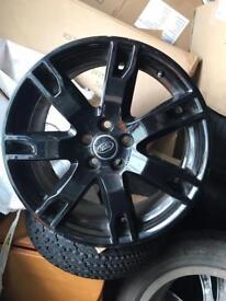 "Range Rover evoque 18"" alloys black Set of 4 genuine Range Rover evoque 18"" alloys"