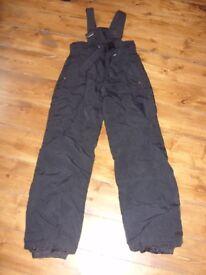 Boys Black MAIER Ski Trousers (10-12)