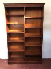 Vintage mahogany effect tall bookcase