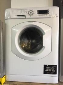 Hotpoint white good looking 8kg 1400spin eco tech washing machine cheap